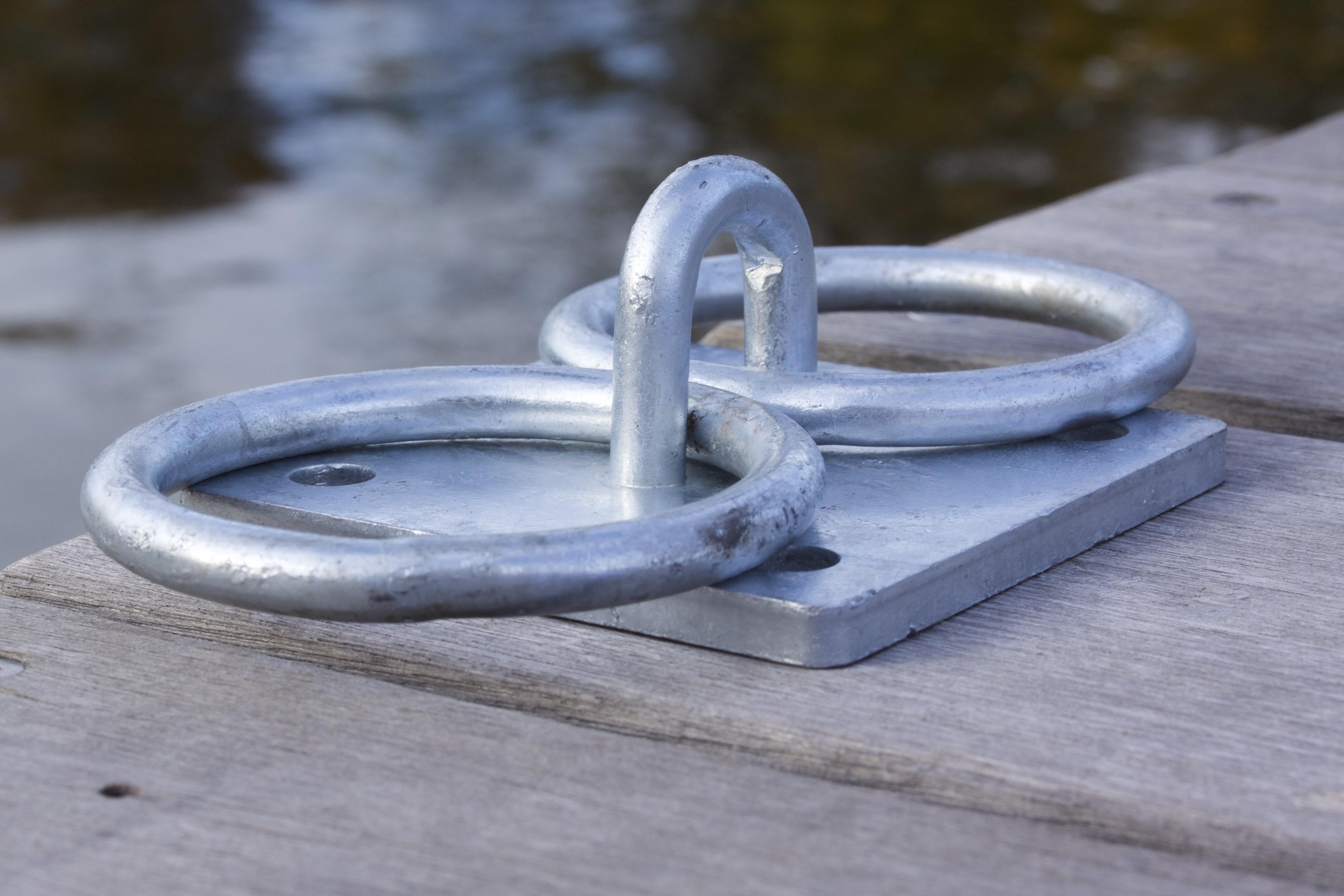 Ideaal!! Twee boten tegelijk afmeren aan eigen ring.